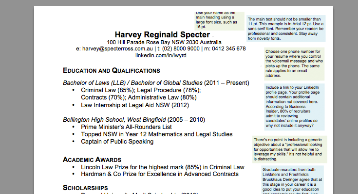 What Law Recruiters Look For In A Cv